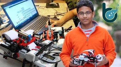 Shubham Banerjee ผู้ผลิตเครื่องพิมพ์อักษรเบรลล์จากเลโก้